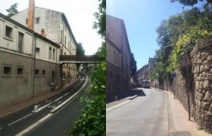 La passerelle avant et après